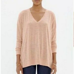 Madewell peach blush long sleeve shirt medium
